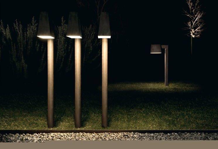 Lampioni da giardino a led prezzi outline lampione da giardino a